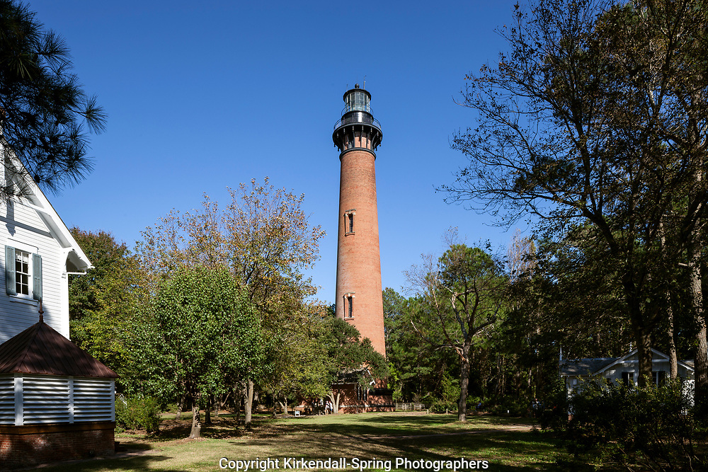 NC00756-00...NORTH CAROLINA - Currituck Beach Light Station in the towm of Corolla on the Outer Banks.