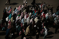 A group of veiled women demonstrate as thousands of Egyptians protesters gather on Tahir Square in Cairo to claim removal of president Mubarak. 08 February 2011.