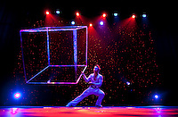 The Cube routine during the BAI XI Chinese Circus opening at The New Victory Theater in New York. ...Photo by Robert Caplin.