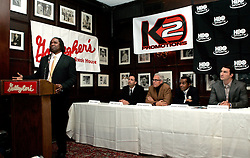 February 8, 2006 - New York, NY - IBF Heavyweight Champion Chris Byrd during the press conference announcing his upcoming fight against Wladimir Klitschko.  The two fighters will meet on April 22nd for Byrd's IBF and the vacant IBO Heavyweight Championship at the SAP-Arena in Mannheim, Germany.