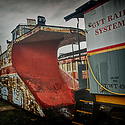 Retired steam snow plow at Steamtown, USA, National Park.