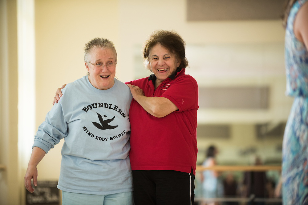 Parkinson's dance class with Suzanne Ostersmith at Gonzaga University. (Photo by Rajah Bose)