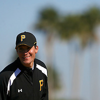 BRADENTON, FL -- January 13, 2010 -- Pittsburg Pirates pitcher Javier Lopez smiles during workouts at the Pirate City Spring Training Headquarters in Bradenton, Fla., on Wednesday, January 13, 2010.  (Chip Litherland for the Chip Litherland for the Pittsburgh Tribune-Review)