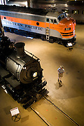 The California State Railroad Museum in Sacramento, California.