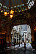 Leadenhall Market, City, London, England, Britain 2 Feb 2009