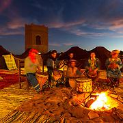 Ishmal drumming in the Sahara Desert in Morocco