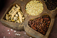 Spices from Kochi.<br /> <br /> Kochi was known for a long time as the main centrum of Indian spice trade. Although today it's only a shadow of its former glory, walking on Bazaar Road in Mattancherry still it's possible to feel its atmosphere, meet the traders of famous  specialities of Kerala, visit old Indian ginger factory  and smell the Indian spices.