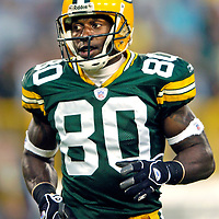 Donald Driver. .The Green Bay Packers hosted the Seattle Seahawk's in a pre-season game at Lambeau Field. WSJ/Steve Apps.