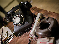 Old Style Telephone on Desk - June 2015.