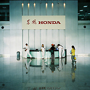 Honda workers at the Wuhan, Hubei factory in China.