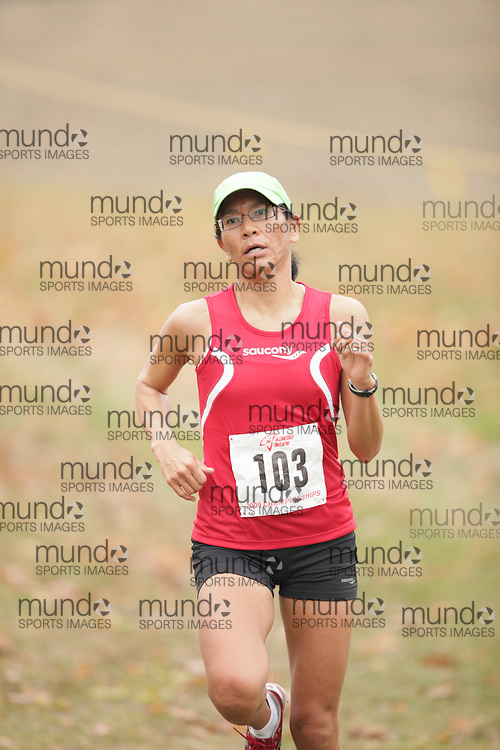 King City, Ontario ---09-11-15--- April Boultbee Boultbee of the 7Systems competes at the Athletics Ontario Cross Country Championships in King City, Ontario, November 16, 2009..GEOFF ROBINS Mundo Sport Images