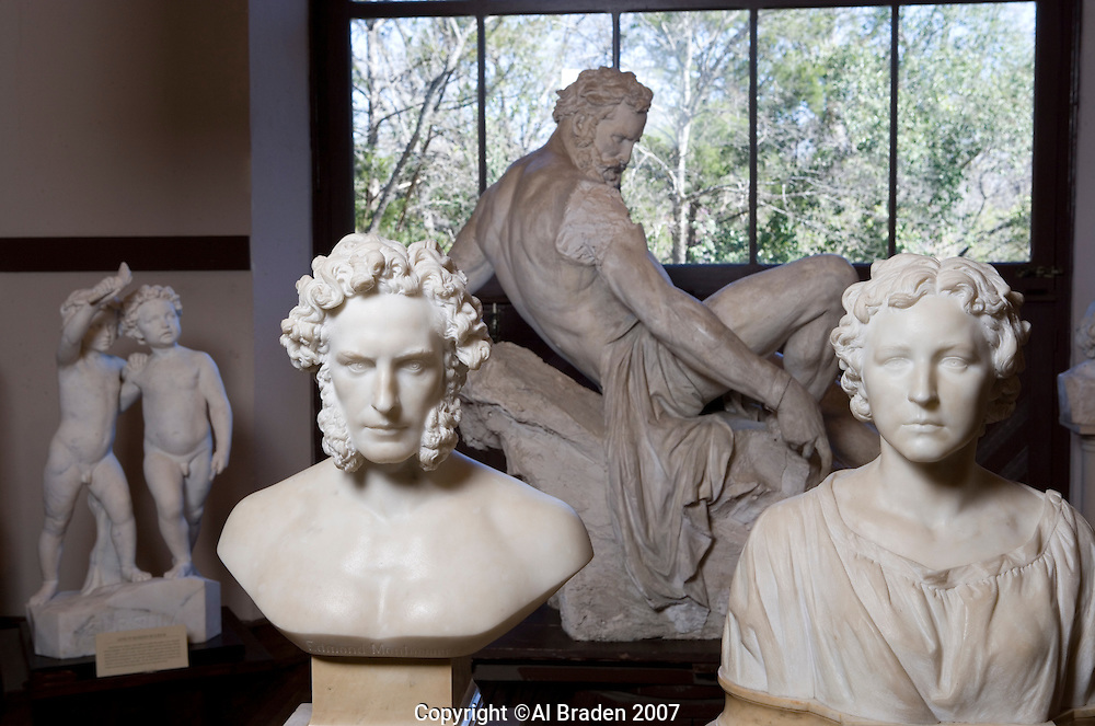 Elizabeth Ney, Dr. Edmund Montgomery and Prometheus Bound Sculptures at Elizabet Ney Museum, Austin, Texas.
