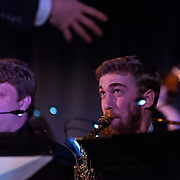 Gonzaga's Jazz Ensemble performed its annual Christmas Concert on Nov. 30 to a packed Hemmingson Ballroom. (Photo by Edward Bell)