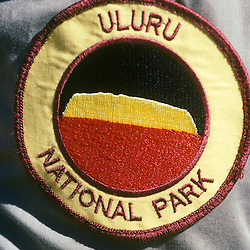 Park Ranger's arm patch. Uluru NP, (Ayer's Rock) Northern Territories AUSTRALIA