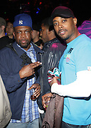 """l to r: Jeru the Damager and Balawa Mason at The YRB Magazine's """" How You Rock It 3 """" with a special performance by Busta Ryhmes and hosted by YRB held at M2 Lounge on May 19, 2009 in New York City."""