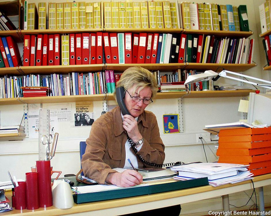 Margrete Fuglem, leder ved Seksjon for universitetspedagogikk, Studieavdelingen ved NTNU. Bildet er fra 2003.