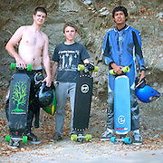 Street-boarders at top of Santa Anita Cyn, Chantry Flats, San Gabriel Mts.