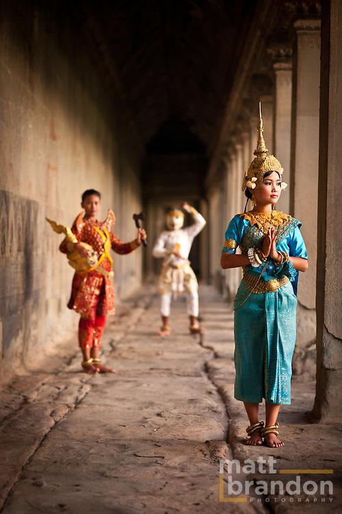 Apsara dancers; Sita, Ravana and Hanuman at Angkor Wat.