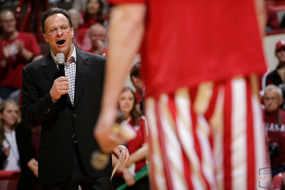 Indiana head coach Tom Crean in action as Northwestern played Indiana in an NCCA college basketball game in Bloomington, Ind., Saturday, Feb. 25, 2017. (AJ Mast)