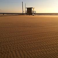 Wind ripples the sands of Venice Beach