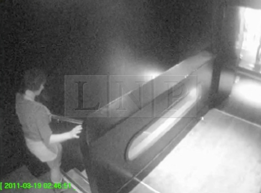 ©London News pictures. 21/03/11.CCTV OF SIAN O'CALLAGHAN LEAVING THE SUJU NIGHTCLUB IN SWINDON. A massive police hunt was underway in a forest last night as fears grew over the disappearance of a woman who has not been seen for two days. Sian O'Callaghan, 22, was last seen at a nightclub in Swindon. Picture Credit should read Stephen Simpson/LNP