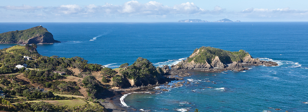 Looking from Tutukaka out towards Poor Knights Island in the distance, New Zealand.