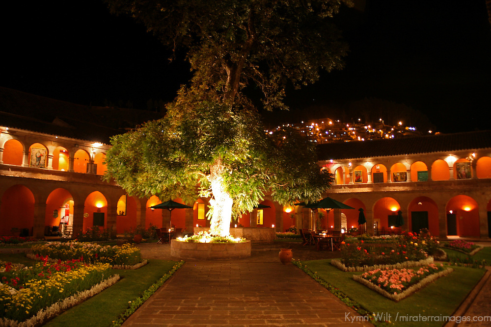 "South America, Peru, Cusco. The Hotel Monasterio in Cusco, voted ""Top 100 World's Best' by Travel & Leisure magazine."