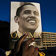 "Barack Obama book for sale outside an Obama ""Stand Together for Change"" event during his campaign for President at Columbia Metropolitan Convention Center days before the South Carolina Democratic Primary on January 26, Newberry, South Carolina, January 20, 2008."