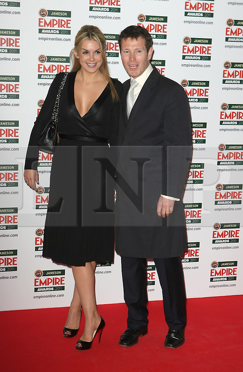 © under license to London News Pictures. 27/03/11. Nick Moran and partner. Outside arrivals of Jameson Empire Awards 2011 at The Grosvenor House Hotel, London . Photo credit should read Andy Barnes/LNP.