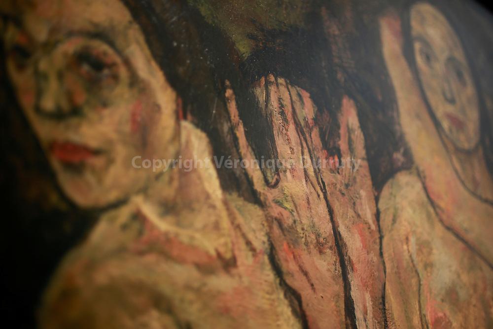 Egon Schiele, Tree standing women, 1918, Leopold Museum, Vienna, Austria // Egon Schiele, 3 femmes debout, 1918, Musee Leopold, Vienne, Autrichee