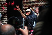 Lady Gaga visits David Letterman Show to promote ' Born this Way 'in New York City