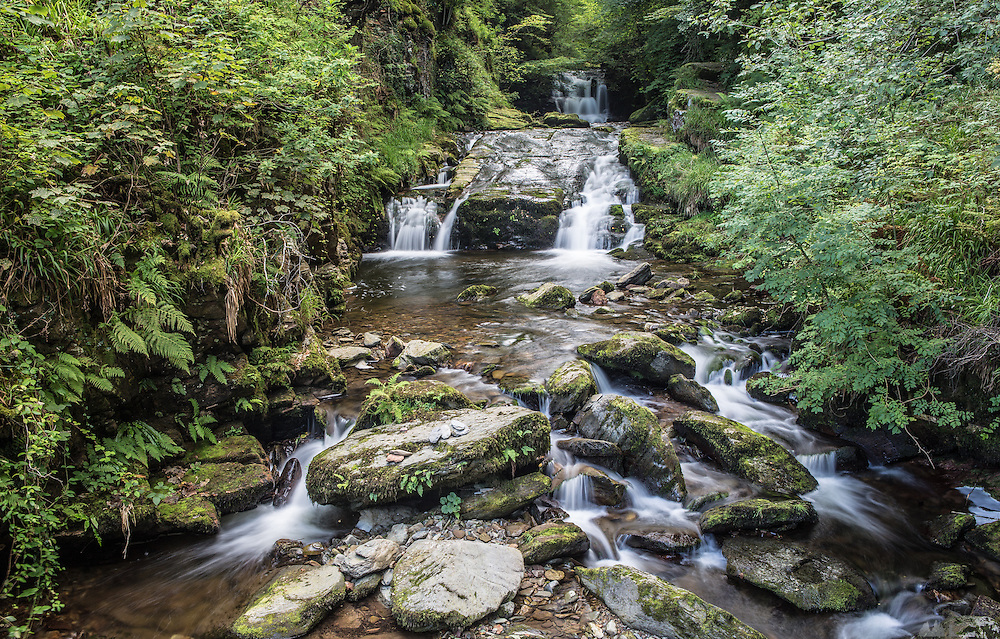 Waterfall at Watersmeet, near Lynton, Devon