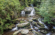 Waterfall at Watersmeet, near Lynton, Devon