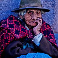 Cusco , Peru - May 27 : Portrait of Peruvian woman in Cusco Peru , May 27 2011