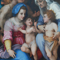 Painting by Andrea del Sarto. , The Louvre Museum in Paris, The Muse?e du Louvre houses 35,000 works of art drawn from eight departments, displayed in over 60,000 square meters of exhibition space dedicated to the permanent collections. Explore the works on display, taking a thematic or cross-departmental approach.