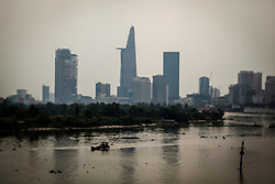 Bitexco Tower seen from Thu Thiem Bridge, Ho Chi Minh City, Vietnam, Southeast Asia