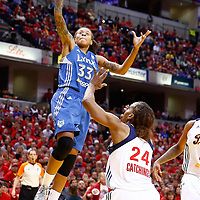 INDIANAPOLIS, IN - OCTOBER 21: Seimone Augustus #33 of the Minnesota Lynx shoots the ball over Tamika Catchings #24 of the Indiana Fever during Game Four of the 2012 WNBA Finals on October 21, 2012 at Bankers Life Fieldhouse in Indianapolis, Indiana. NOTE TO USER: User expressly acknowledges and agrees that, by downloading and or using this Photograph, user is consenting to the terms and conditions of the Getty Images License Agreement. (Photo by Michael Hickey/Getty Images) *** Local Caption *** Seimone Augustus; Tamika Catchings