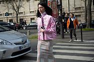 Pink Silk Kimono Jacket Outside Miu Miu FW2017