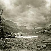 Stormy weather saint mary's lake glacier national park
