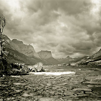 Stormy weather saint mary's lake glacier national park
