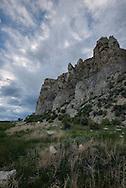 Beaverhead Rock State Park, Beaverhead Rock, Lewis and Clark landmark, Montana, 4,949 feet, Pioneer Mountains in background