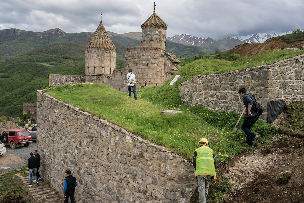 The Tatev Monastery on Saturday, May 7, 2016 in Tatev, Armenia.