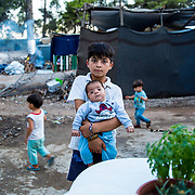 Brothers. Ritsona refugee camp, Ritsona, Greece, July 2016.
