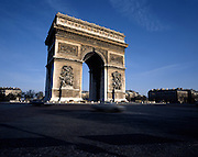 AA00385-01...FRANCE - The Arch de Triomphe in Paris.