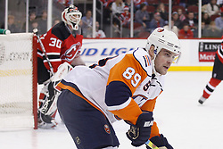 November 16, 2007; Newark, NJ, USA;  New York Islanders center Mike Comrie (89) move up ice during the first period against the New Jersey Devils at the Prudential Center in Newark, NJ.