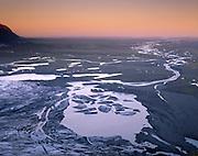 Terminus of Skaftafellsjökull looking out to Skeitharársandur, Skaftafell National Park Iceland, Europe