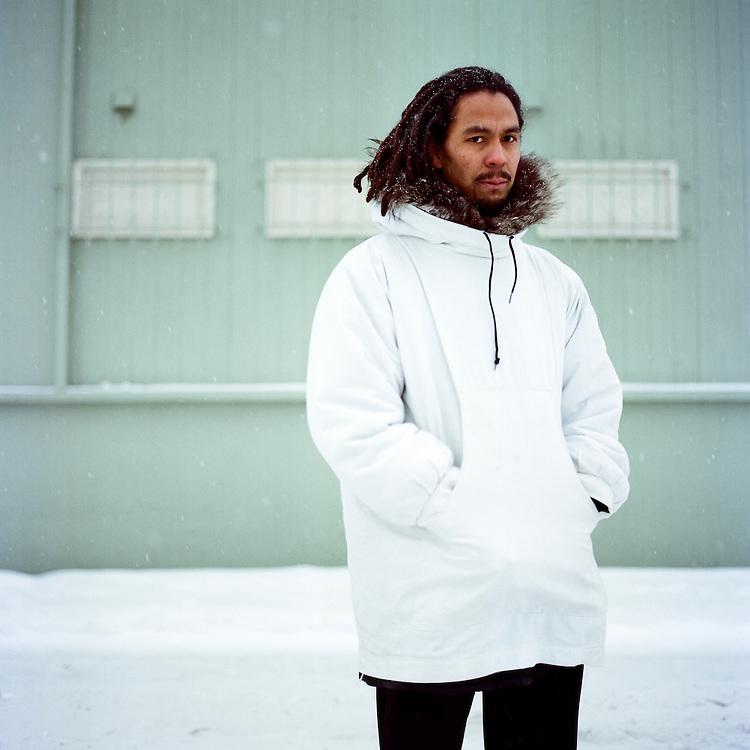 ANCHORAGE, ALASKA - 2009: Phillip Blanchet of Pamyua.