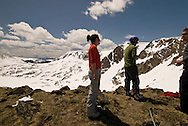 Beartooth Scenic Byway, Shoshone National Forest, skiers and snowboarders, opening day, Beartooth Pass, Wyoming