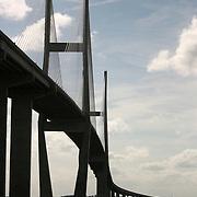 A very high bridge from Brunswick Georgia to the Jekyll Island Causeway.