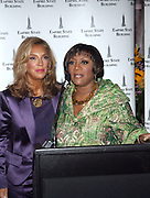 l to r: Denise Rich and Patti Labelle at The Empire State Building lighting ceremony, where the world's most famous office buiding will shine brightly in ths colors of Gabrielle's Angel Foundation for Cancer Research, red and purple, on the night of Gabrielle's Gala..The mission of Gabrielle's Angel Foundation is to fund basic and clinical medical research in both conventional and intergrativedisciplines which focus on prevention, treatment and quality of life issues of leukemia, lymphoma and related cancers.